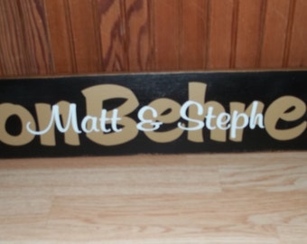 Personalized handmade sign