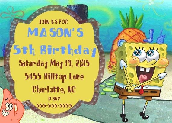 danke spongebob einladung einladung geburtstag spongebob, Einladungen