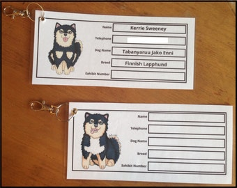 Personalised Crate/Cage Label for Dog Shows