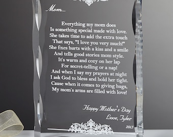 Dear Mom Poem Personalized Keepsake