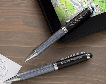 Black Stylus Personalized Ball-Point Pen