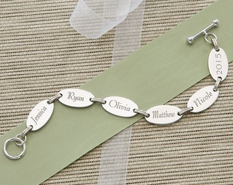 Family Connections Engraved Bracelet