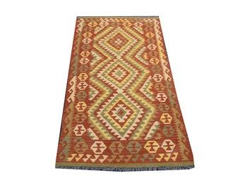 FREE SHIPPING    ....    Best Hand Woven Vintage Chobi Kilim 100% Natural Wool