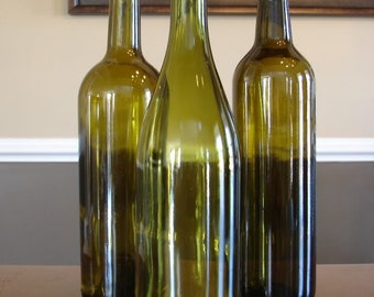Empty Uncut Wine Bottles without Labels *Expedited Shipping
