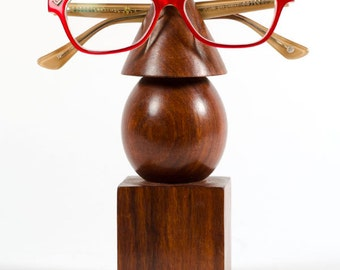 Hand Carved Geometric Eyeglass Holder