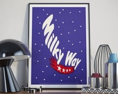 Home Décor Wall Art, 'Milky Way', Poster, Motivation Poster, Motivation Print, Inspiration Print, Wall Art, Typography