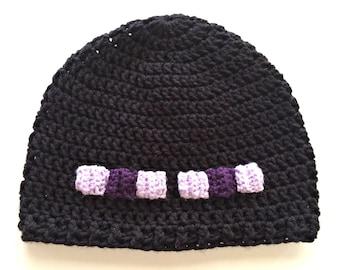 Minecraft Enderman Crochet Hat