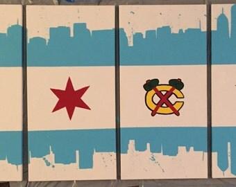 Chicago/Blackhawks Flag