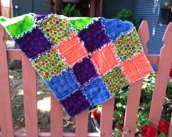 Rag quilt for a precious baby