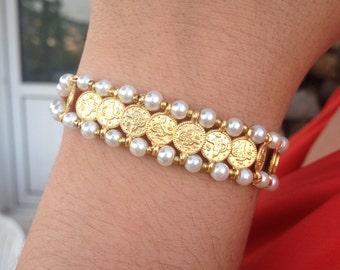 Bracelet, Gemstone Bracelet, White Bracelet, Handmade Bracelet, Gifts for Her