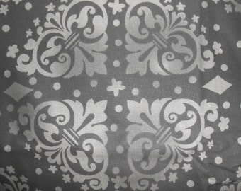 Black and White medallion Fabric