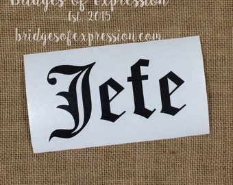 Old English Style Name Glossy Decal Sticker
