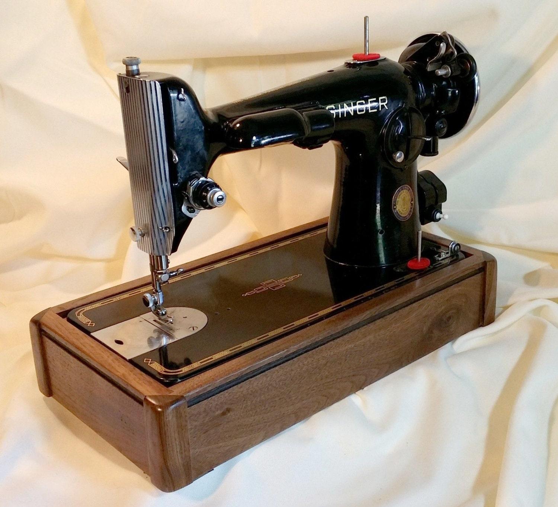 custom sewing wood base for singer models 66 99 15 90. Black Bedroom Furniture Sets. Home Design Ideas
