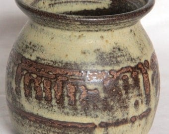 Bentham Pottery Stoneware & Wax Resist Jar