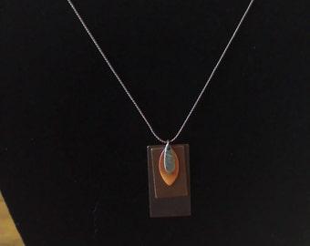Metal work necklace