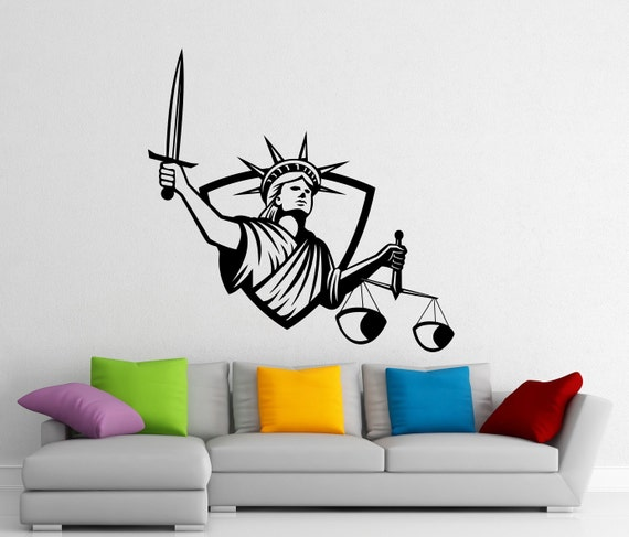 lady justice wall art - photo #1