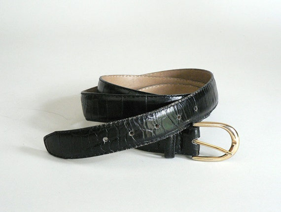 mens black leather belt size 46 to 50 waist