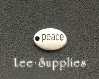 30pcs Antique Silver Alloy Peace Letter Charms Pendant A1082