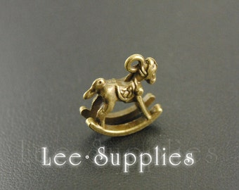 10pcs Antique Bronze Alloy Rocking Horse Charms Pendant A544