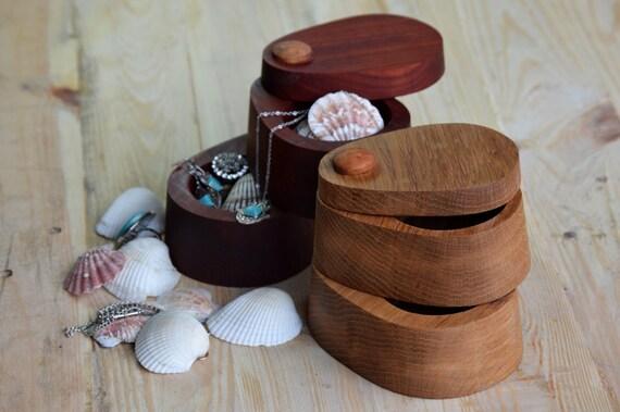Jewelry Box Band Saw Box Padauk Wooden Box Salt Cellar