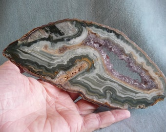 Amethyst And Jasper Slice From Uruguay