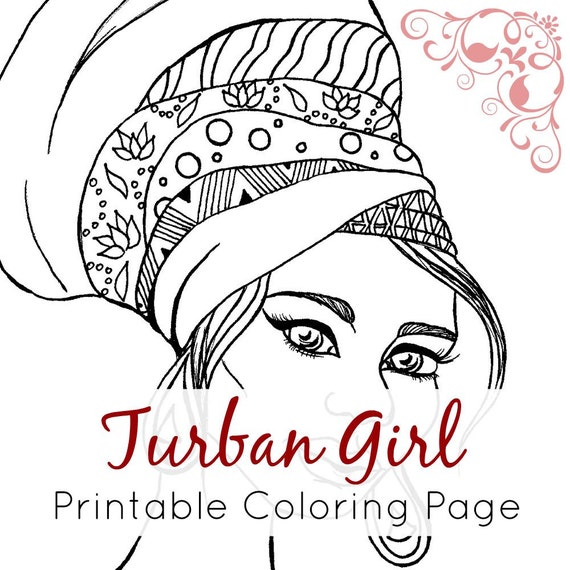 African girl coloring page african girl with turban for African culture coloring pages