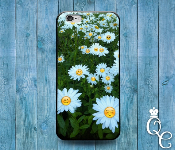 iPhone 4 4s 5 5s 5c SE 6 6s 7 plus iPod Touch 4th 5th 6th Generation Custom Phone Case Funny Flower Smiley Face Cute Girly Cover Sweet Cool