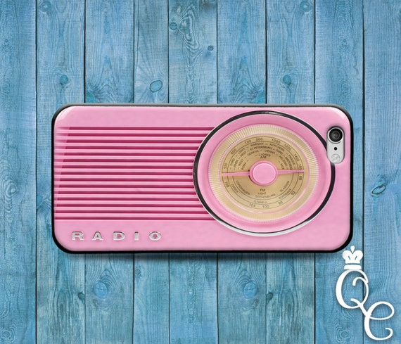 iPhone 4 4s 5 5s 5c SE 6 6s 7 plus iPod Touch 4th 5th 6th Generation Cute Pink Hipster Music Stereo Radio Cover Retro Cool Funny Phone Case