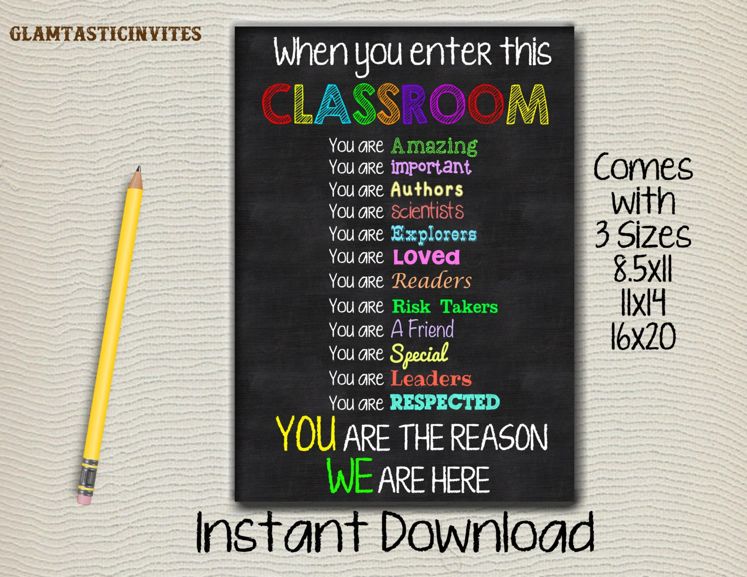 Classroom Decor Gifts ~ Classroom rules for the class decor gift