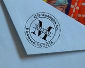 Rubber Stamp,Self Inking Return Address Stamp, Personalized Stamp, Self Inking Stamp, Return Address Stamp, House Warming Gift, Monogram