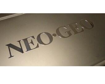 SNK NEO GEO Label / Aufkleber / Sticker / Badge / Logo 128 x 22mm [181]