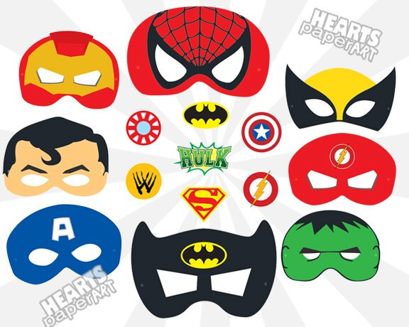 Unforgettable image throughout printable superhero masks