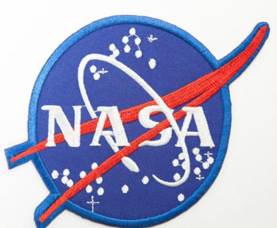 blue nasa astronaut wings patches-#16
