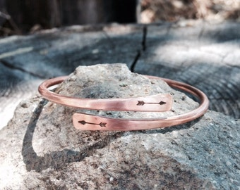 Handforged recycled copper braclet