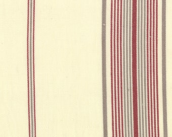 Panier De Fleur Stripes Woven Twill by French General for Moda Fabrics 12556 14 Flax