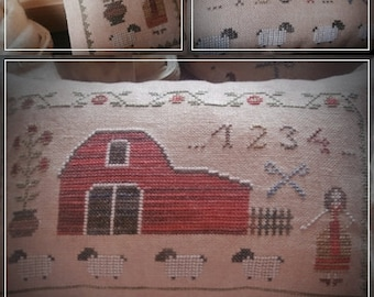 Sweet Rosie-Sheep shearing / Primitive cross stitch pattern