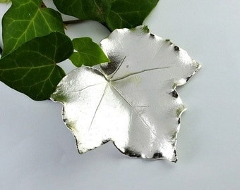 Ivy leaf pendant etsy real silver ivy leaf pendant ivy leaf ivy leaf pendant leaf pendant mozeypictures Image collections