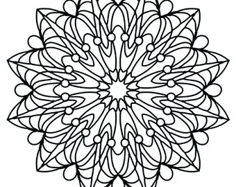 printable coloring pages for adults mandala snowflake by