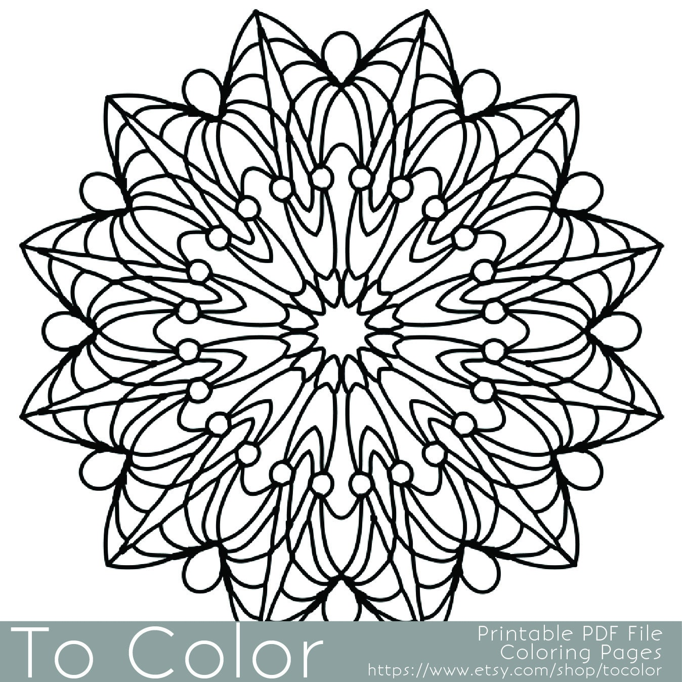 Coloring Pages For Adults: Simple Printable Coloring Pages For Adults Gel Pens Mandala