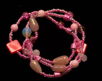 Pink 3-Strand Bracelet