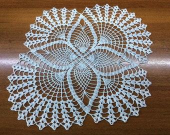 Crochet doily white