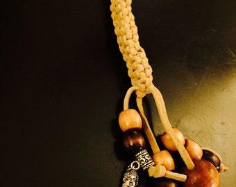 Buddha Leather Work Key/Purse Charm