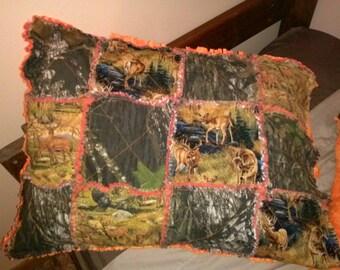 pillow slip raggy hunting mossy oak camouflage bedding orange - Camouflage Bedding