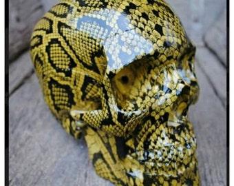 SKULL King cobra Life size Snake ornament rockabilly tiki hotrod metal biker pinup
