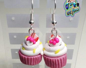 earrings cup cakes