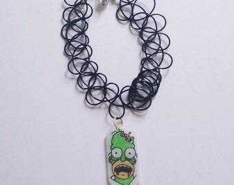 Zombie homer Simpson charm/choket/necklace/earrings