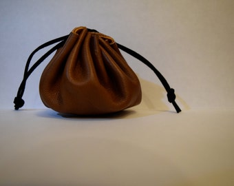 Leather Drawstring Bags