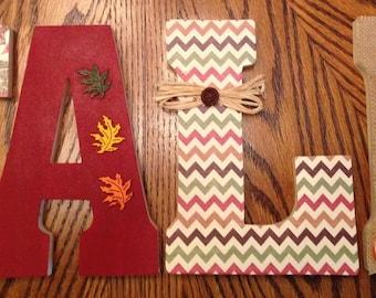 Fall letters, Seasonal letters, Fall home decor, Fall decor standing letters, Thanksgiving home decor