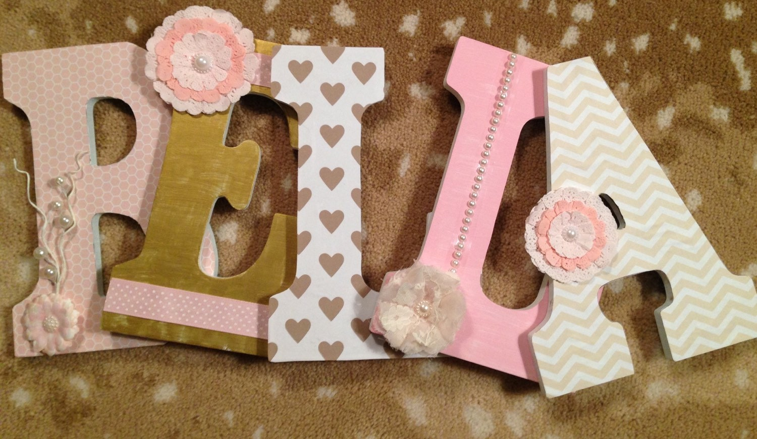 letters for nursery girls room letters custom wood letters. Black Bedroom Furniture Sets. Home Design Ideas