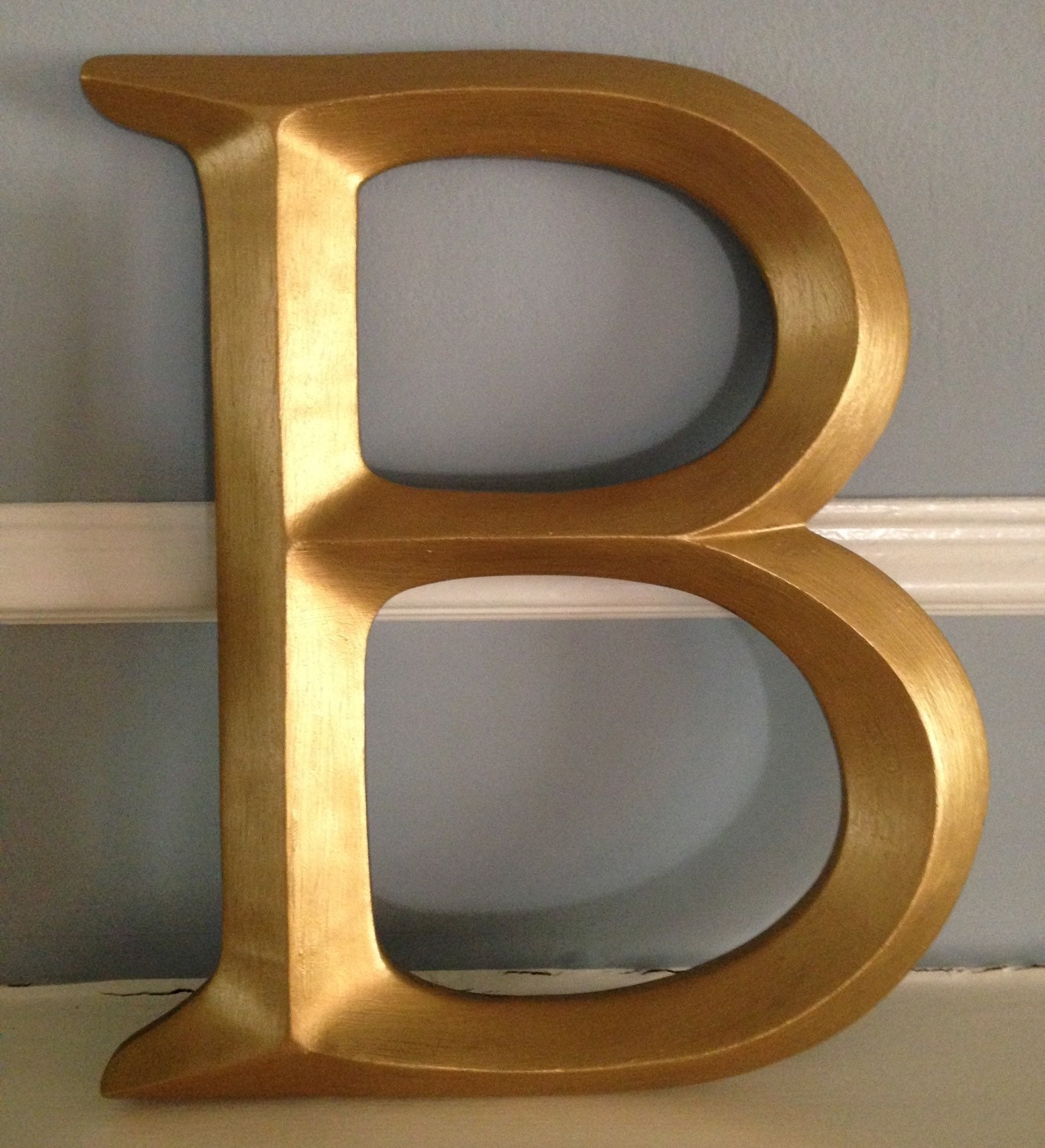large single letter initials monogram letter b gold letters large wall letter picture wall letter any color